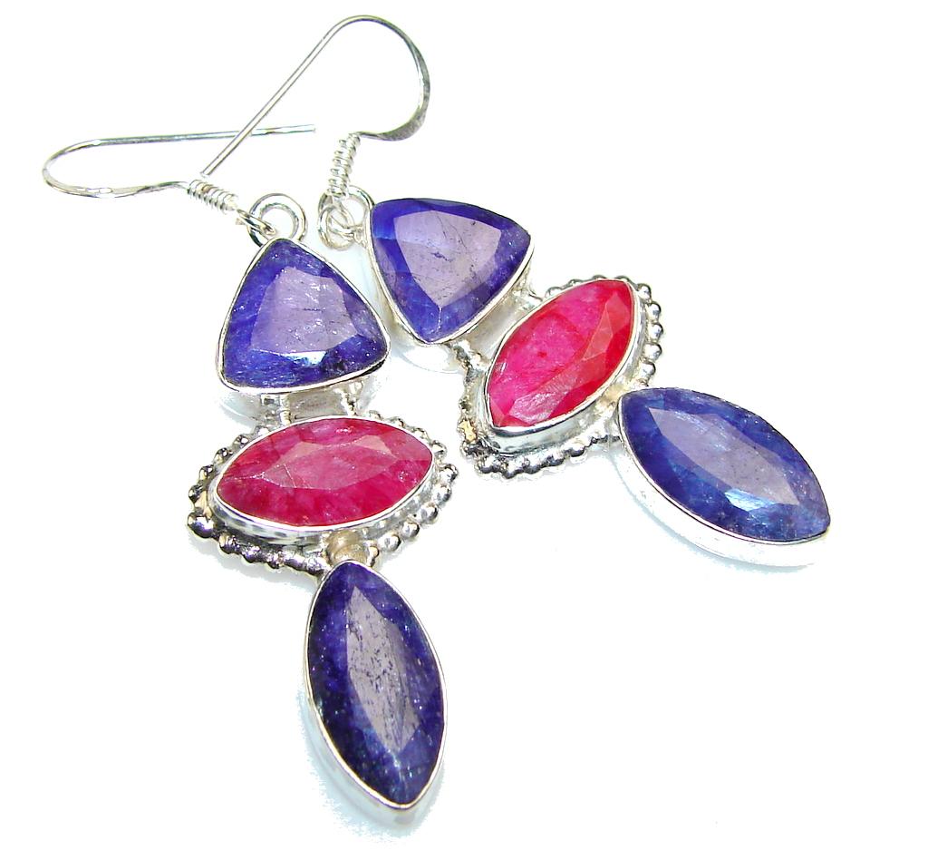 Great Blue Sapphire Sterling Silver earrings