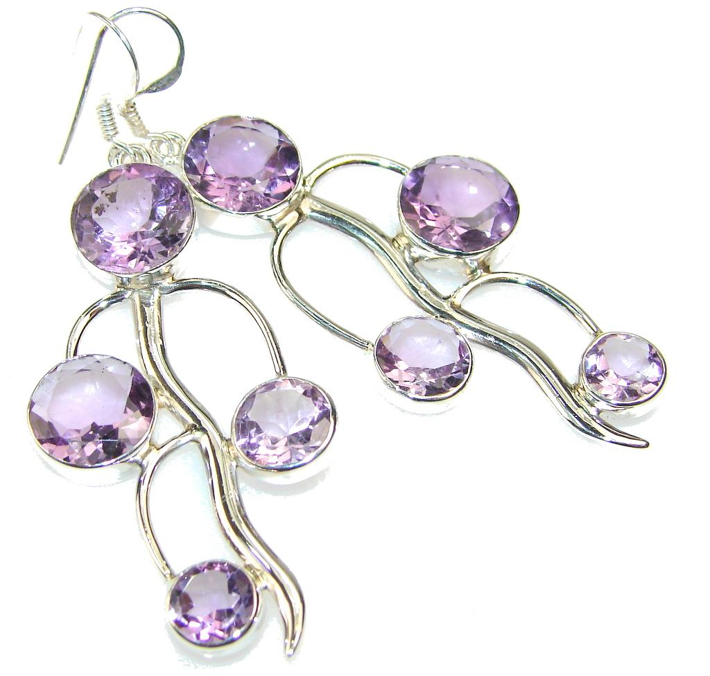 Delicate Amethyst Sterling Silver earrings