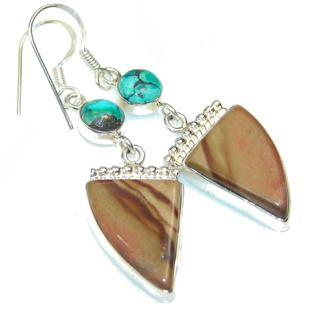 Amazing Montana Agate Sterling Silver earrings
