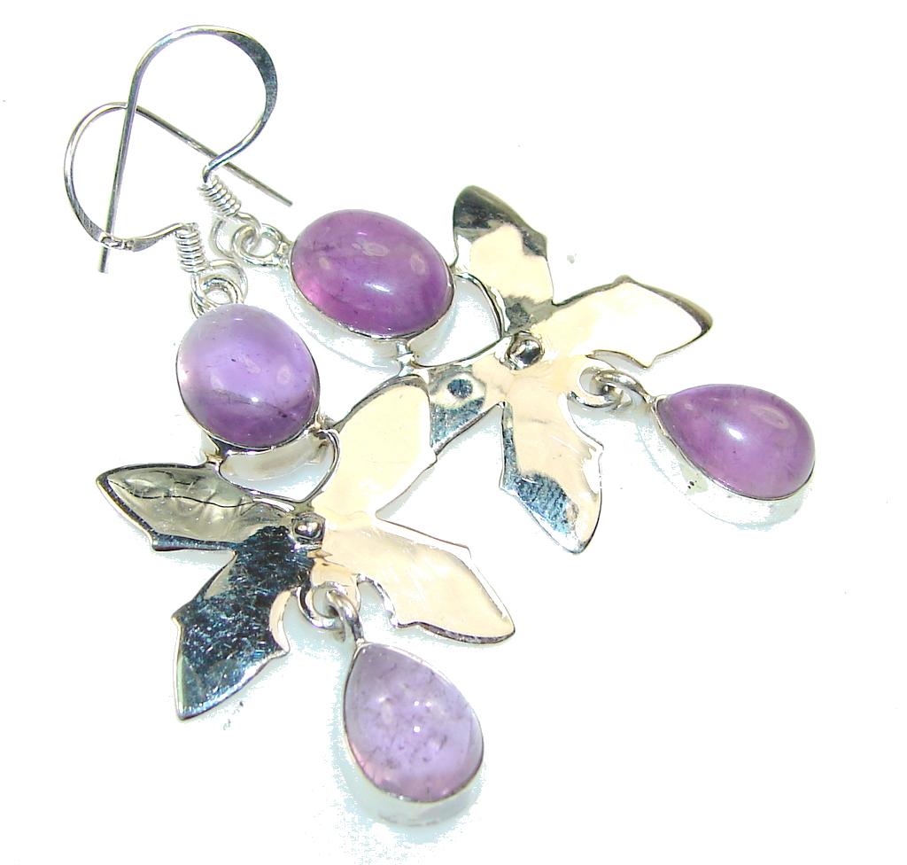 Beautiful Purple Amethyst Sterling Silver earrings