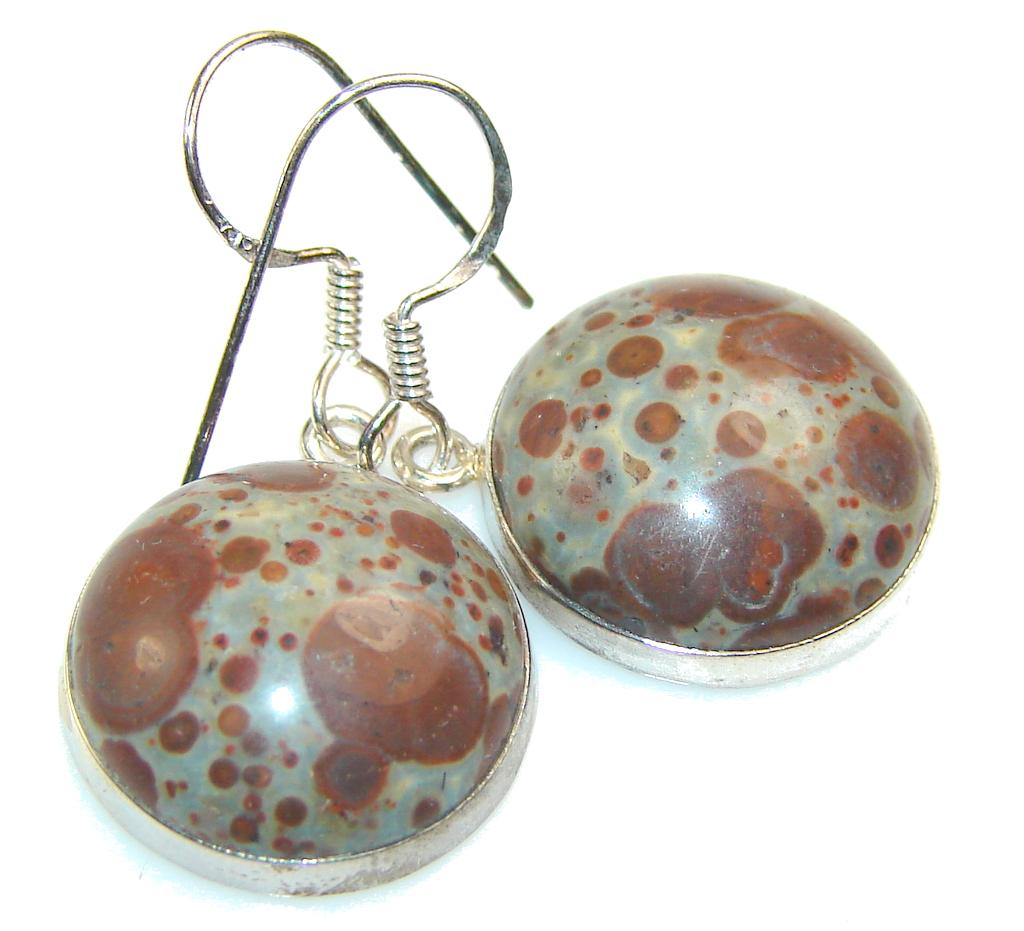 Fantastic Crinoid Fossil Sterling Silver earrings