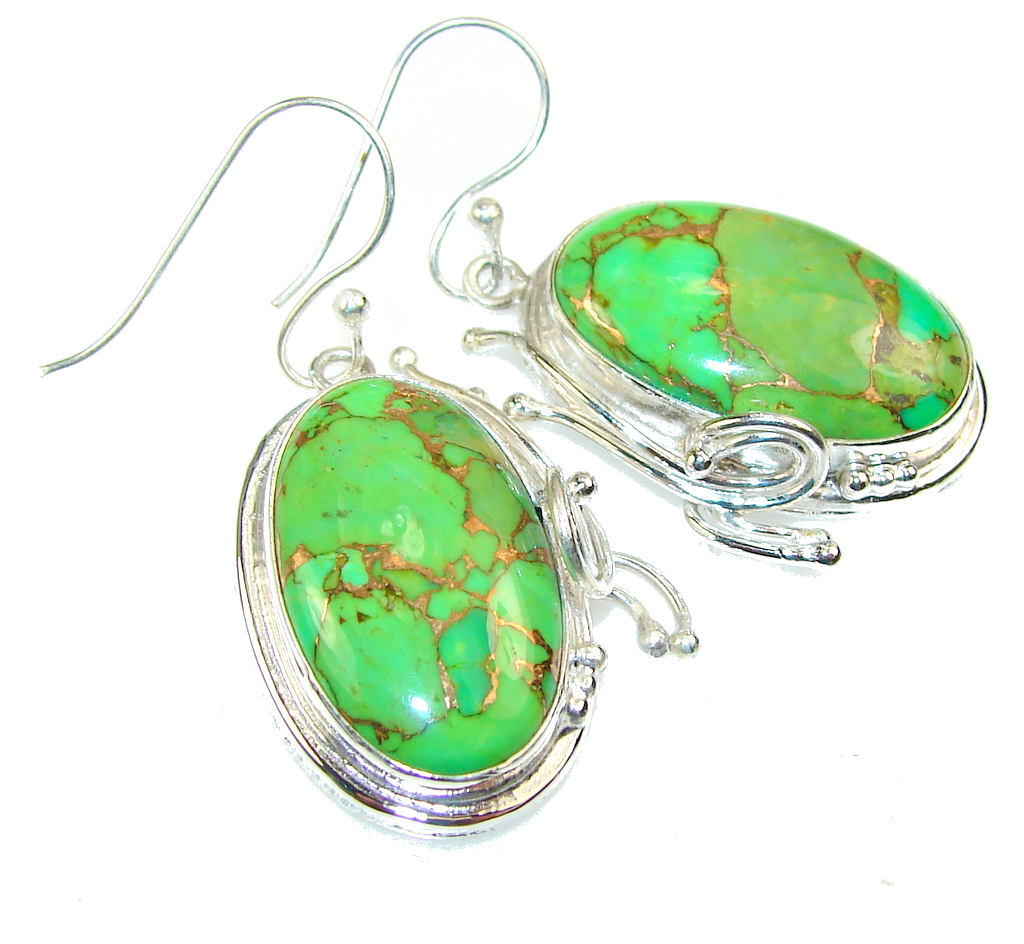 Fresh Copper Turquoise Sterling Silver earrings