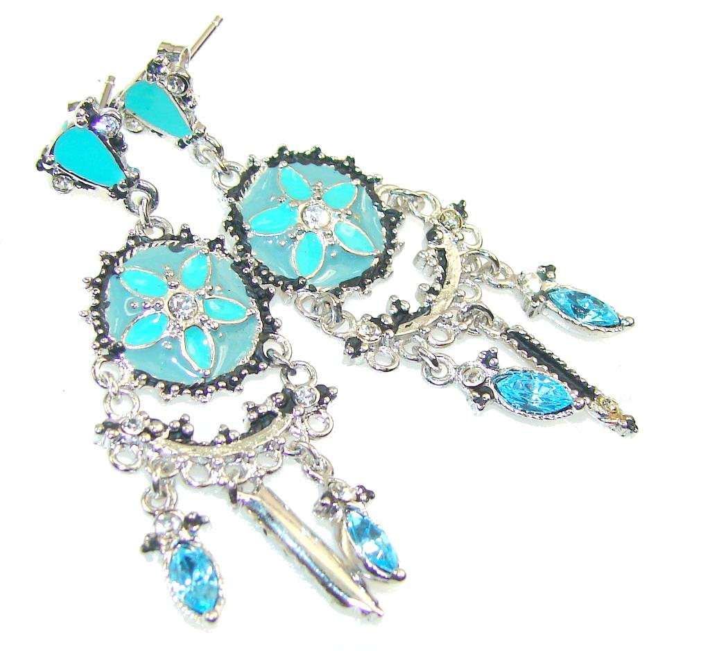 Gentle Blister Pearl Sterling Silver Earrings
