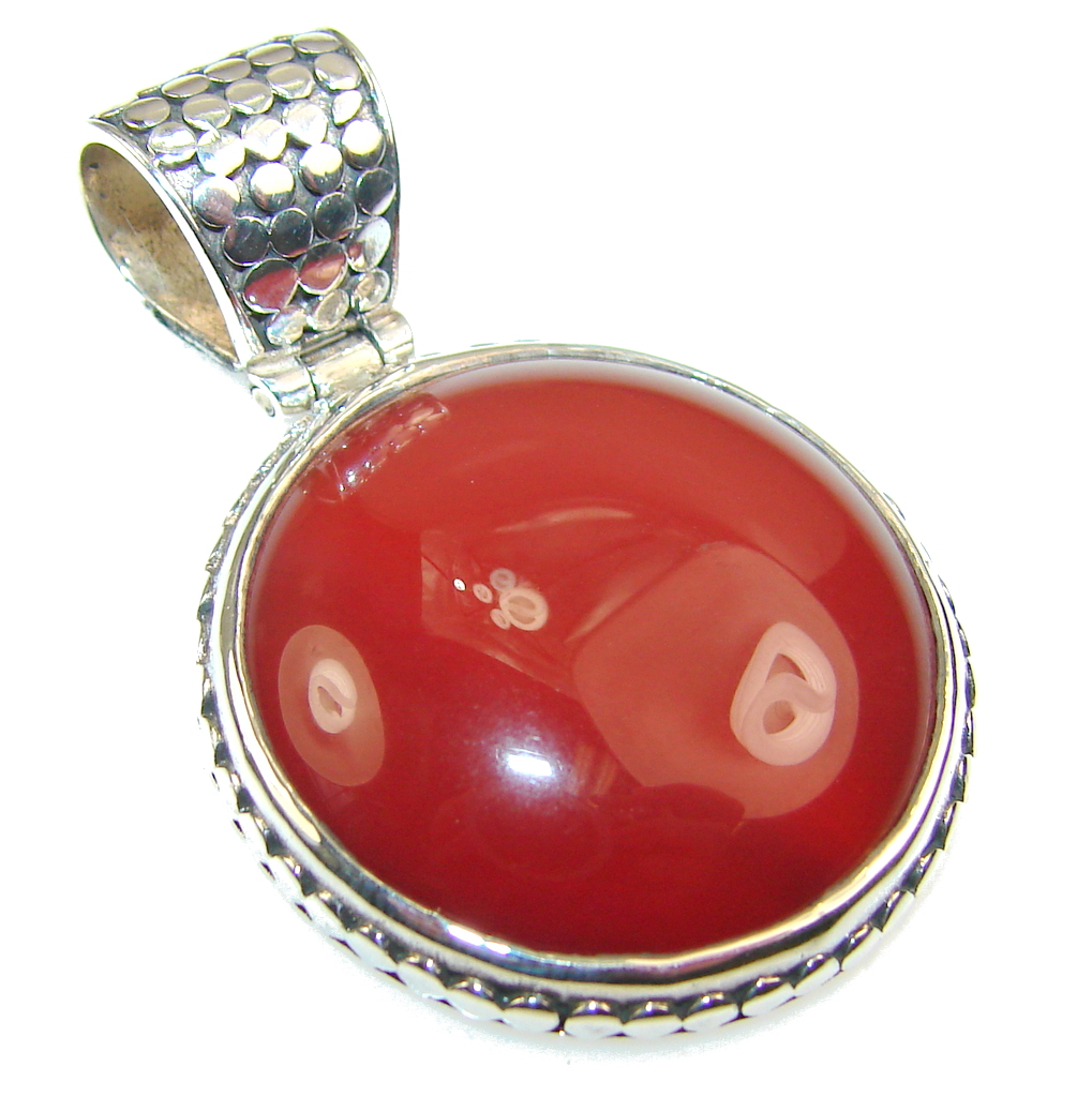 Amazing Brown Agate Sterling Silver Pendant