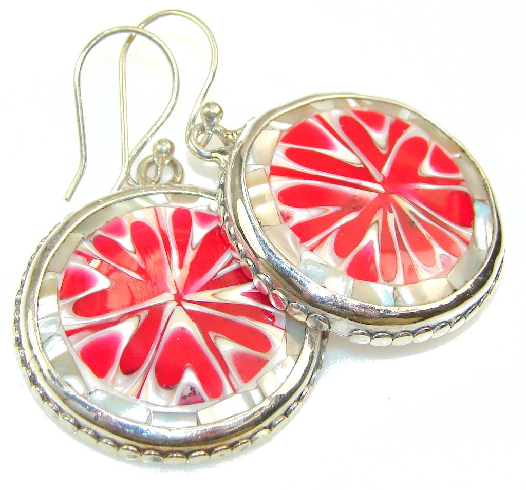 Big! Secret Ocean Shell Silver earrings