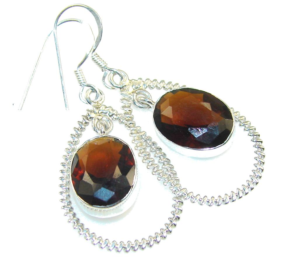 Beautiful Brown Smoky Topaz Sterling Silver earrings