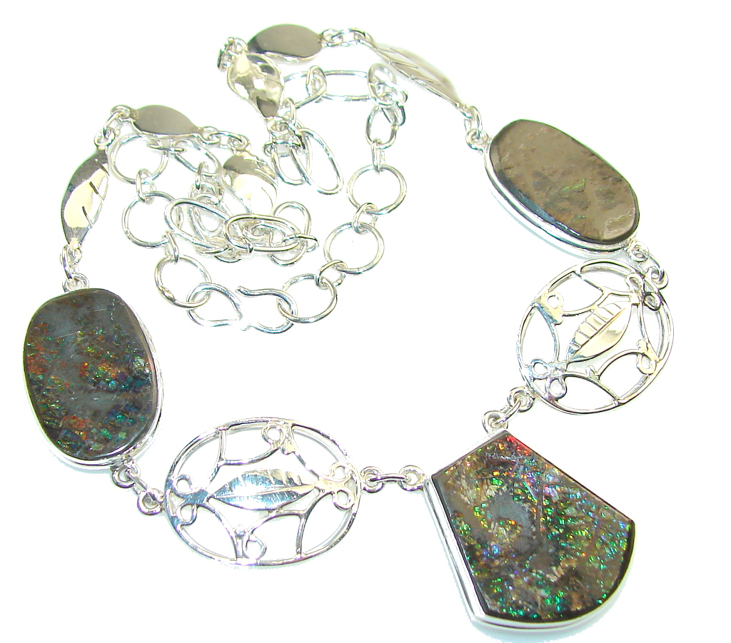 Trade Secret!! Ammolite Sterling Silver necklace