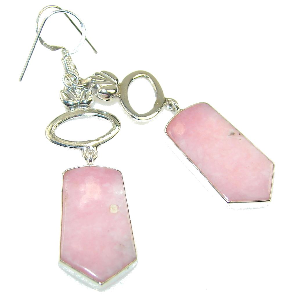 Delicate! Pink Opal Sterling Silver earrings