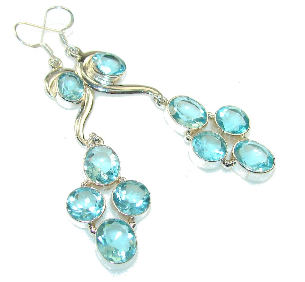Delicate Apatite Quartz Sterling Silver Earrings / Long