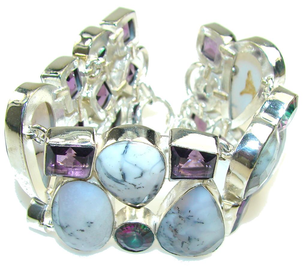 Maya Dreams!! Dendritic Agate Sterling Silver Bracelet