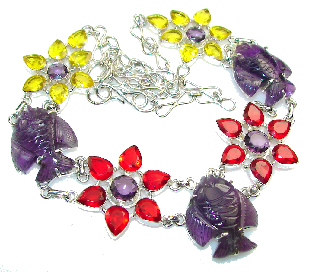Fashion Stylish!! Amethyst Sterling Silver necklace