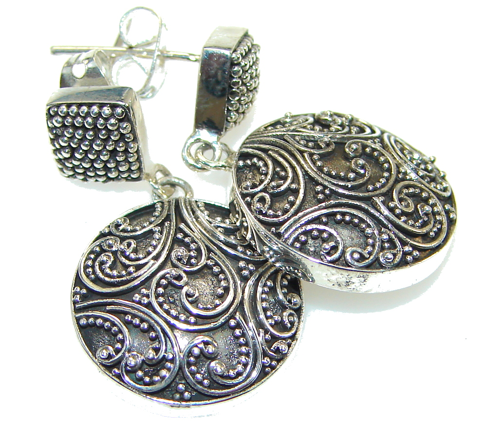 Charming Oriental Pure Sterling Silver Earrings