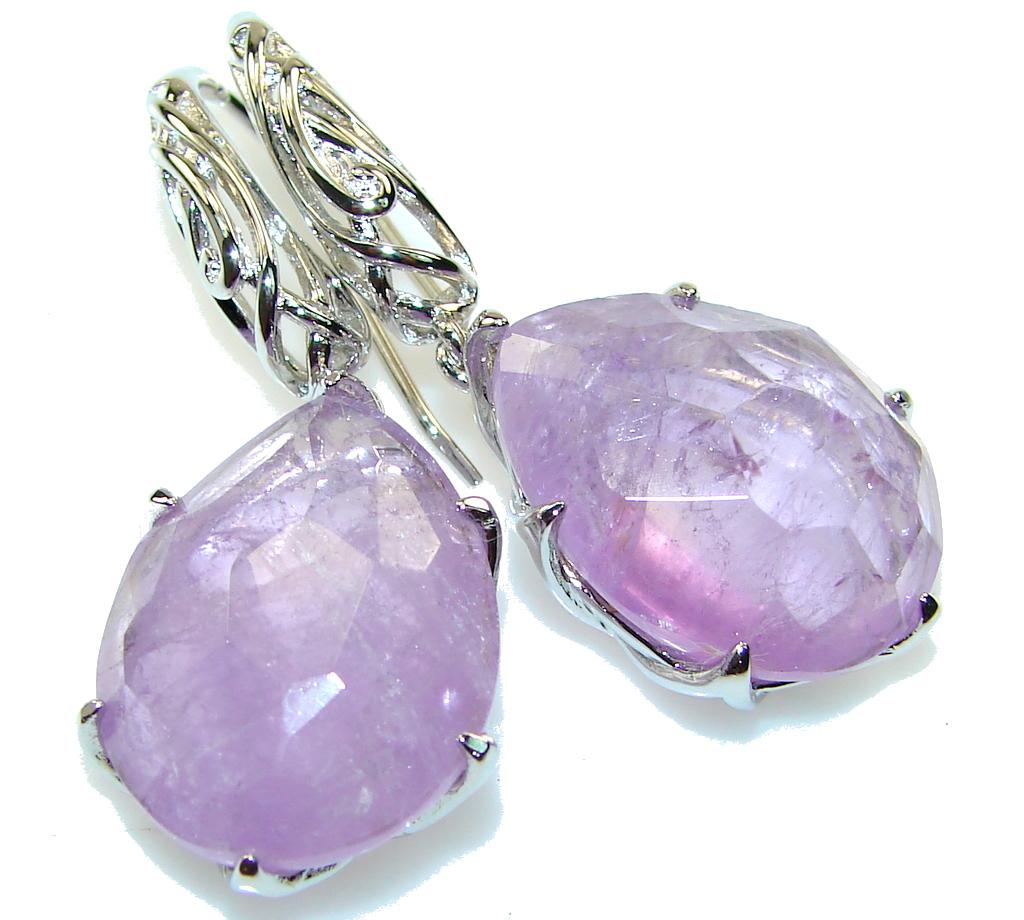 Gentle! Natural Purple Amethyst Sterling Silver earrings
