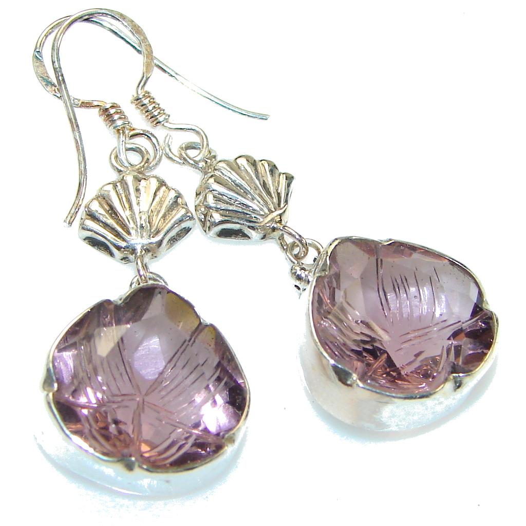 Delicate!! Purple Amethyst Sterling Silver earrings