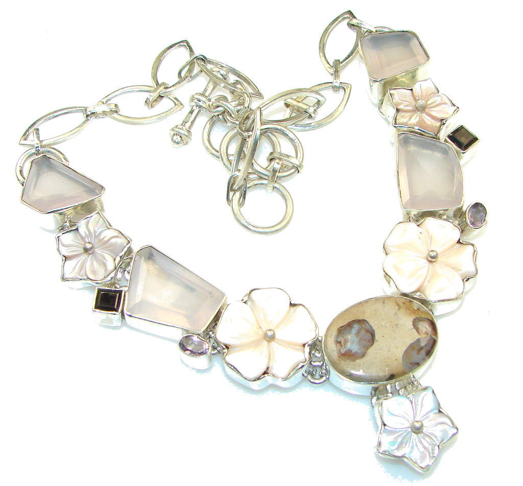 Amazing DEsign Of Blister Pearl Sterling Silver necklace