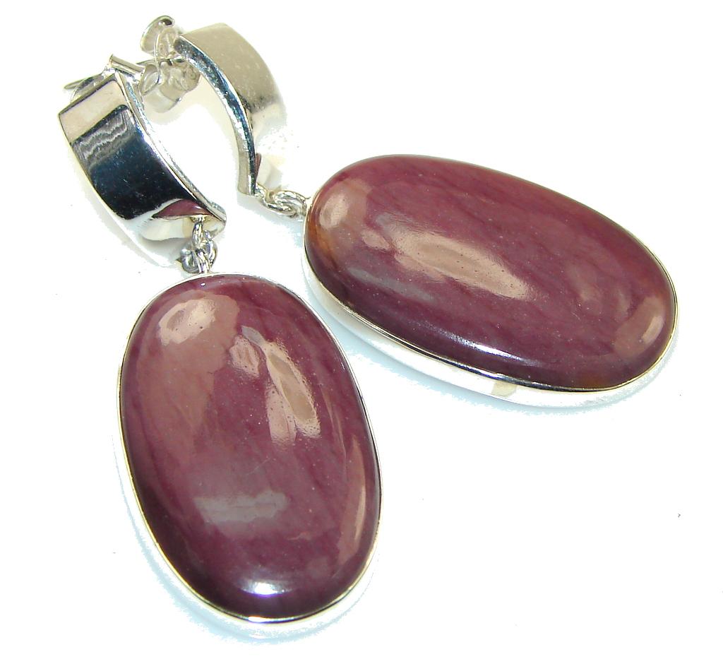 Fabulous!! Purple Sugalite Silver Sterling earrings