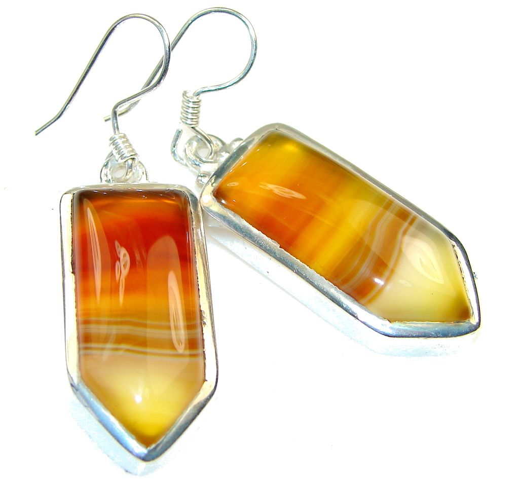 Fantastic!!! Botswana Agate Sterling Silver earrings