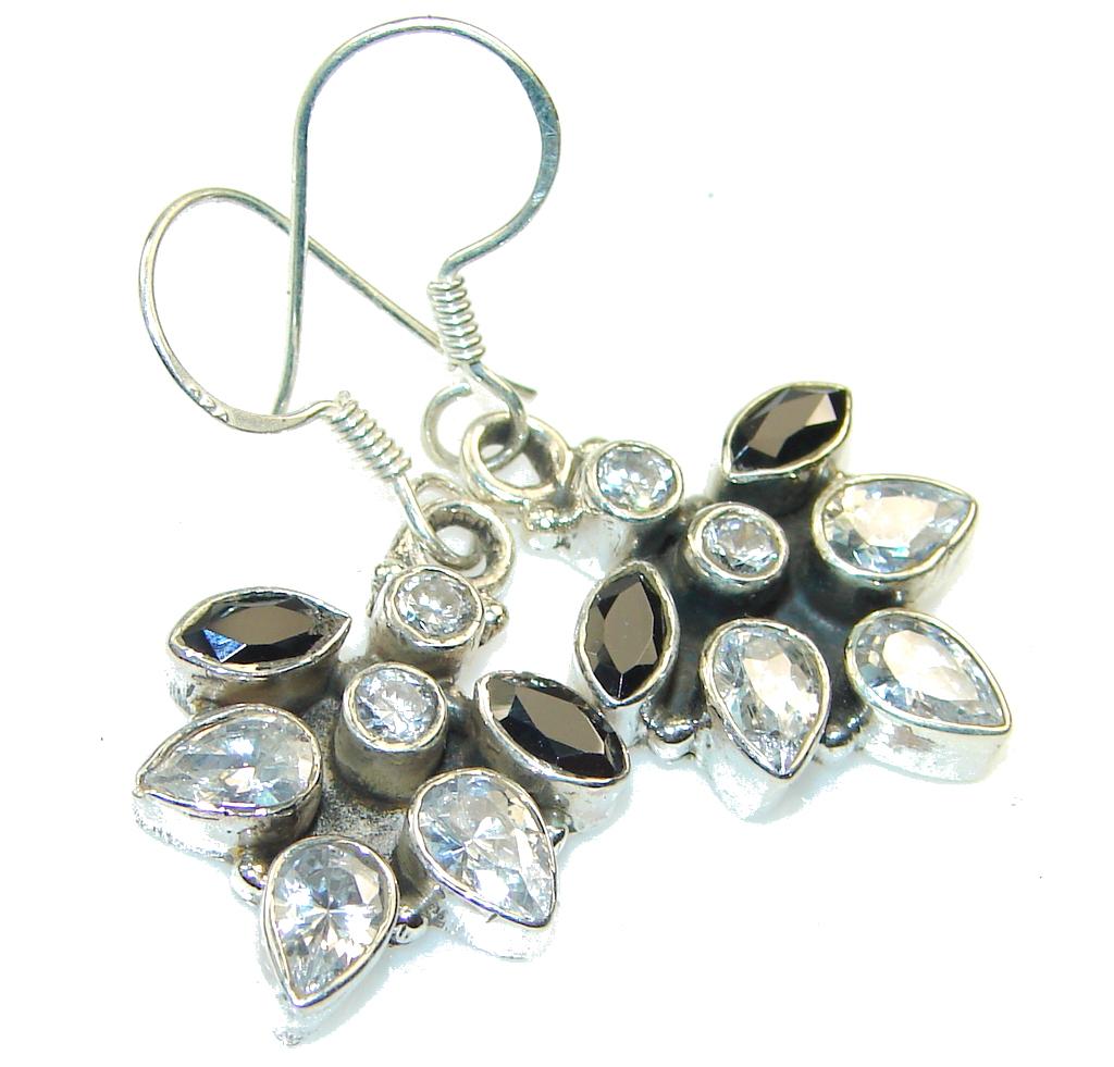 Gentle!! White Topaz Sterling Silver earrings