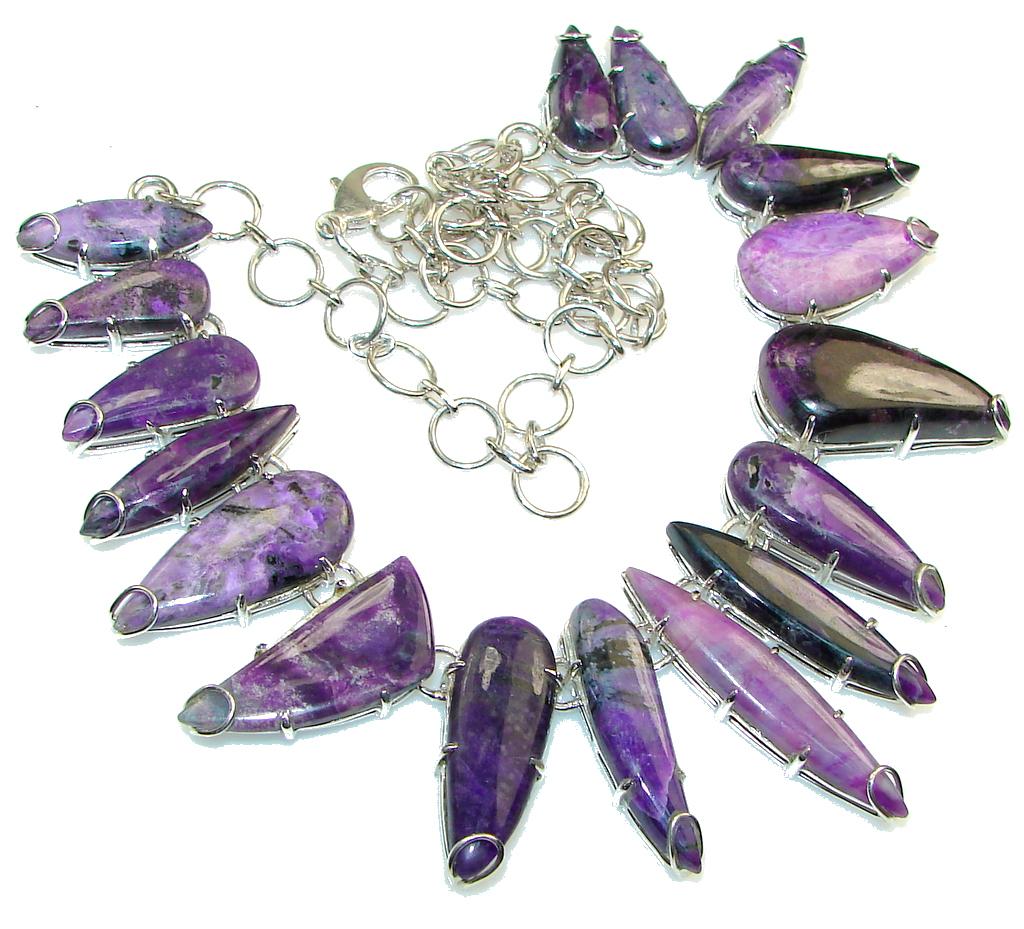 Lavender Dreams! Purple Charoite Sterling Silver Necklace