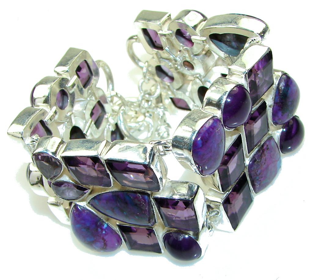 Lavender Dreams! Amethyst Sterling Silver Bracelet