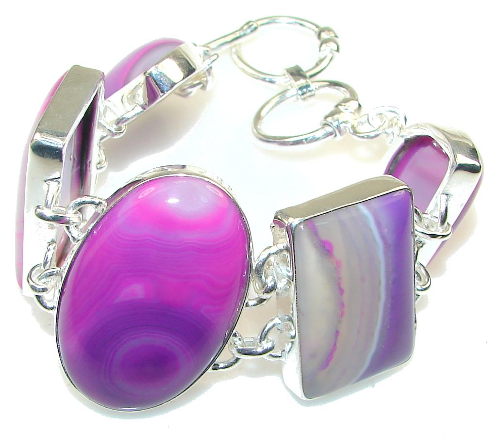 Aura Of Beauty!! Botswana Agate Sterling Silver Bracelet