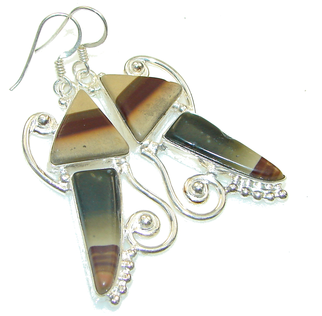 Instant Classic!! Wild Horse Jasper Sterling Silver earrings