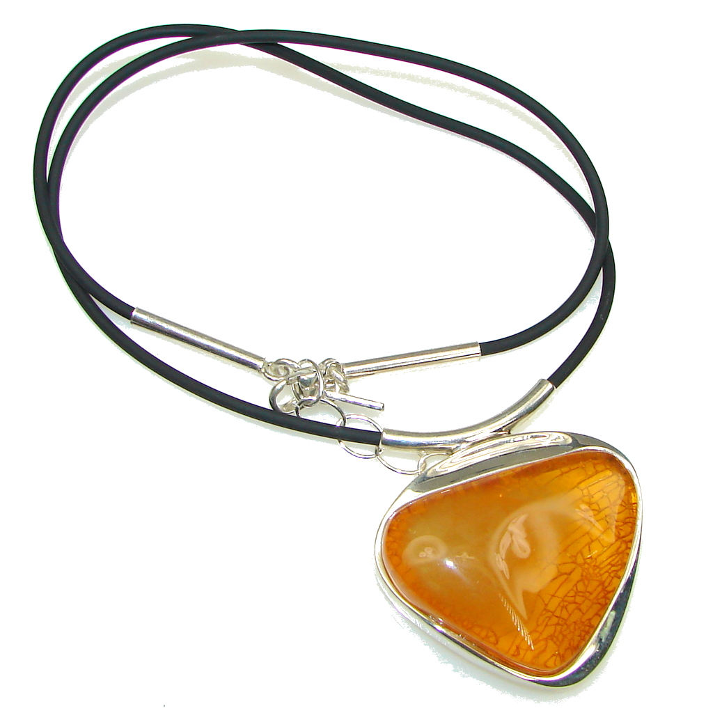 Secret Chamber! Baltic Polish Amber Sterling Silver necklace