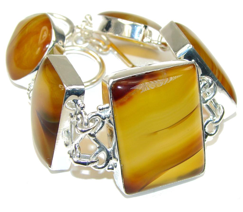 Simple Beauty! Botswana Agate Sterling Silver Bracelet