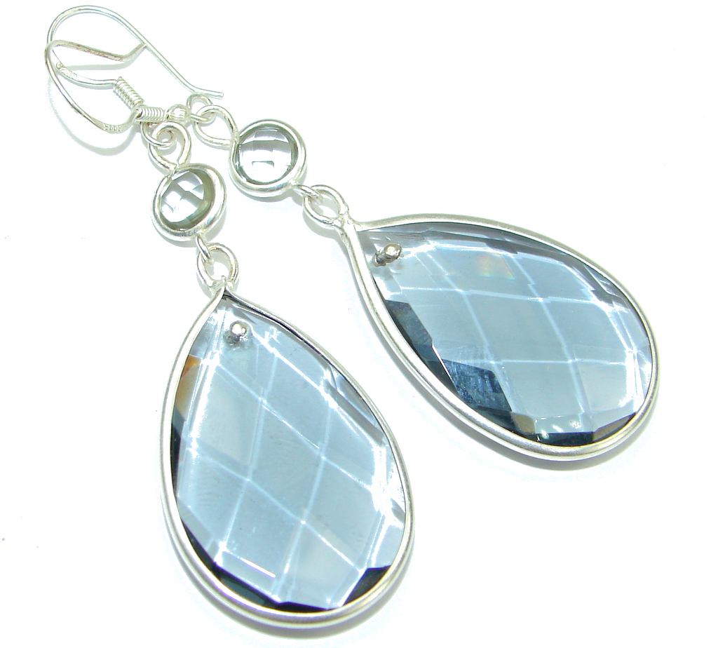 Amazing! Brownish Quartz Sterling Silver earrings