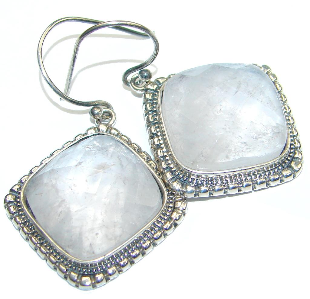 Delicate! Light Rose Quartz Sterling Silver earrings