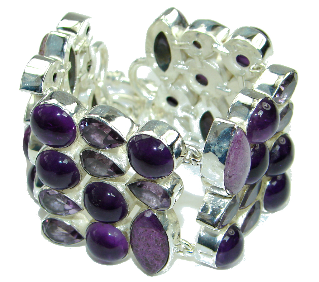 Lavender Dream! Purple Amethyst Sterling Silver Bracelet