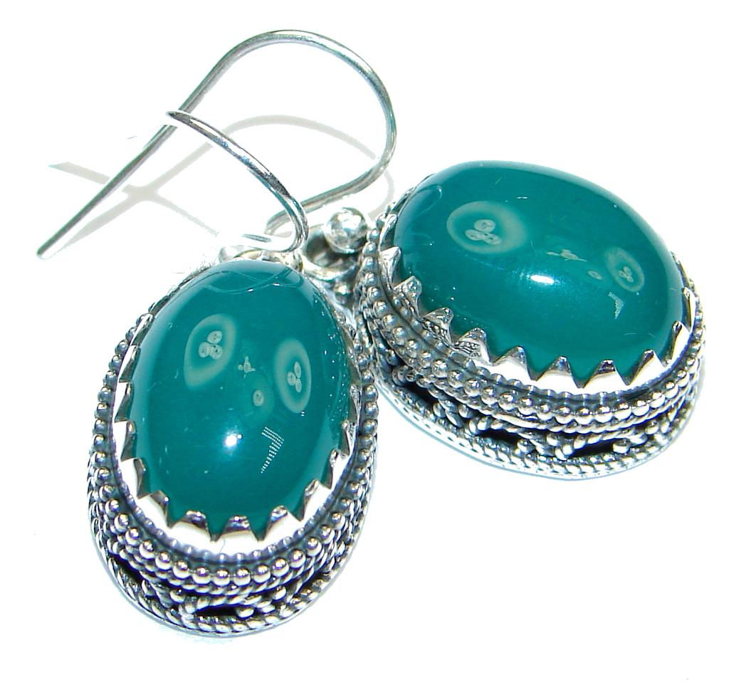 Island Dream! Green Agate Sterling Silver earrings