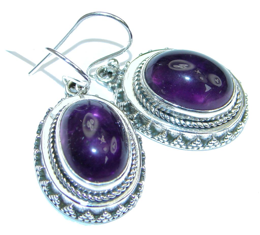 Delicate! Purple Amethyst Sterling Silver earrings
