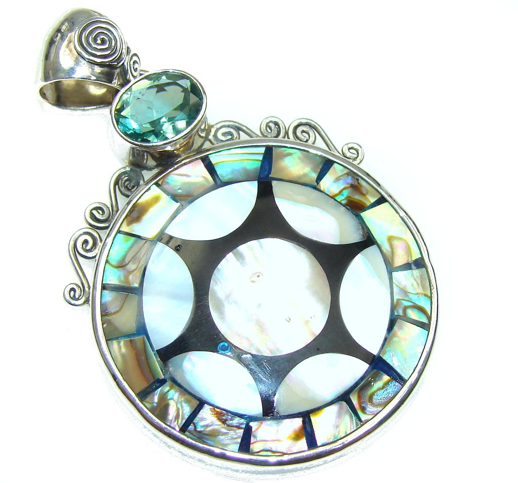 Secret Rainbow Abalone Sterling Silver Pendant
