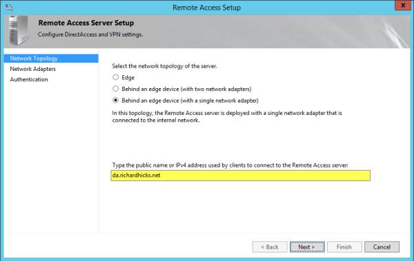 Configuring Windows Server 2012 R2 DirectAccess in Microsoft Azure