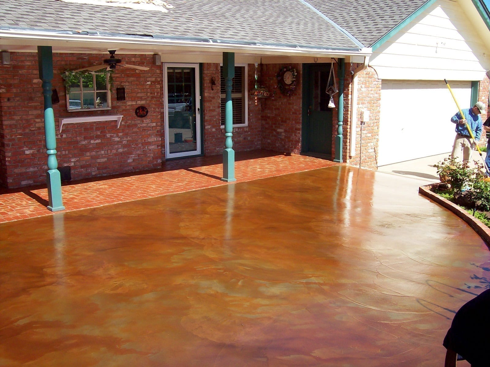 Marbled Acid Stained Patio