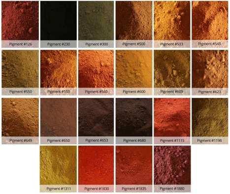 Iron Oxide Concrete Pigment Colors