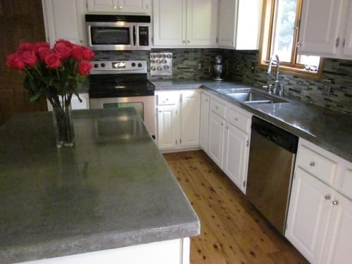 Sealed Waxed Concrete Countertop