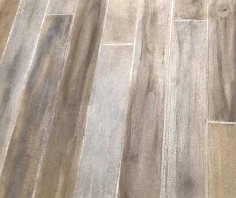 Stenciled Concrete Wood Design