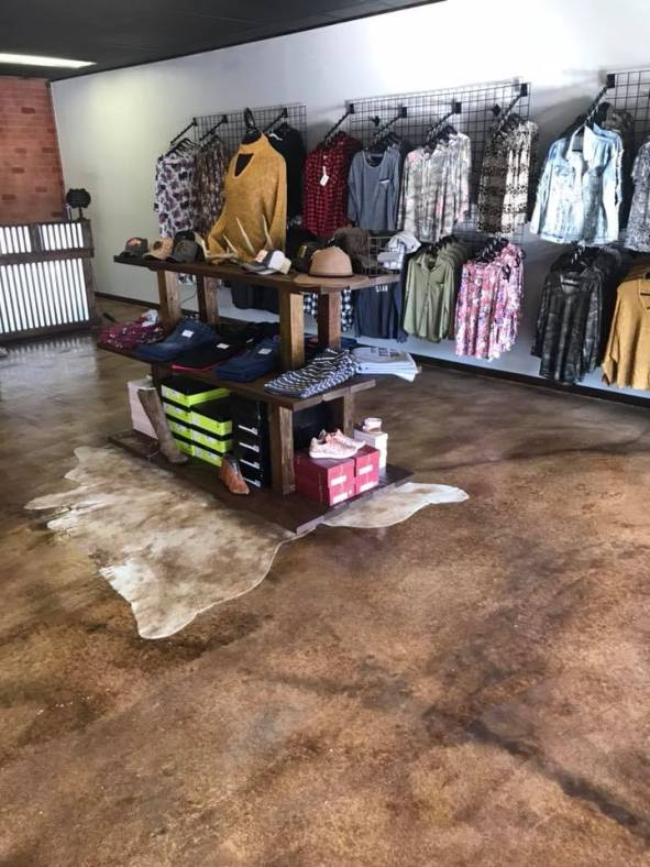 Acid Stained Boutique Floor