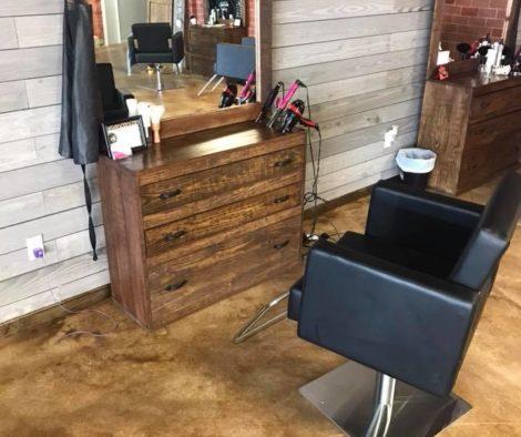 Acid Stained Hair Salon Concrete Floor