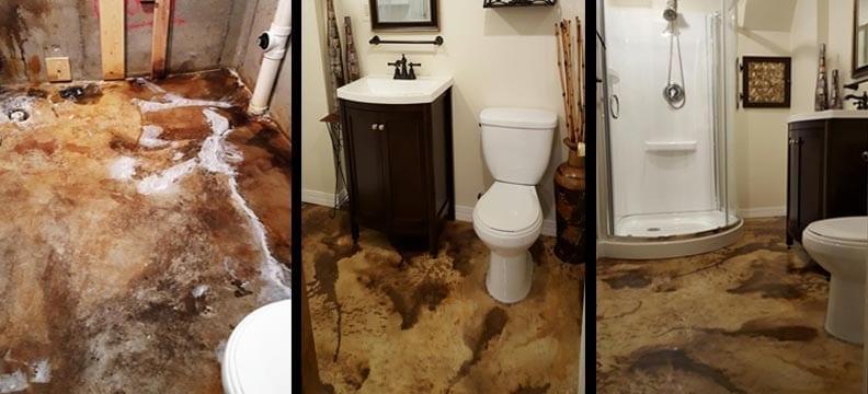 Concrete Bathroom Floor Remodeling