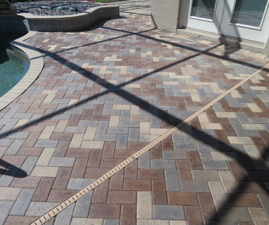 Stain Pool Deck Concrete Pavers