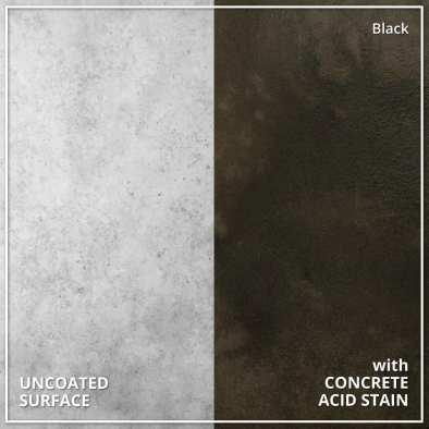 Uncoated Concrete vs Concrete Acid Stain