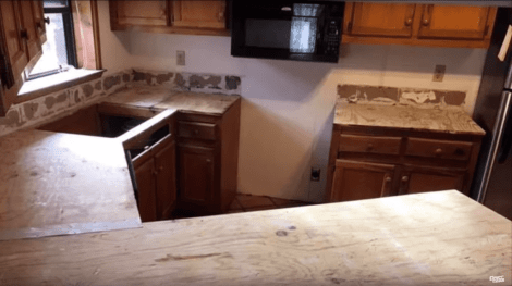 Overlaying a Plywood Countertop Surface