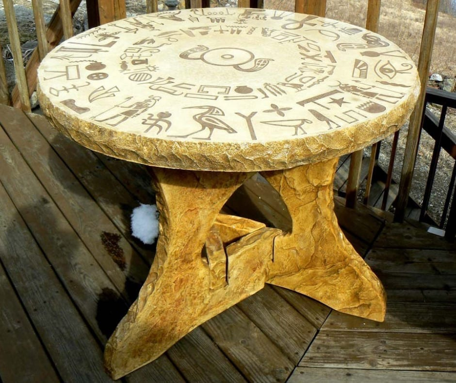 Hand-Crafted Intricate Concrete Table Design by Mark Fisher