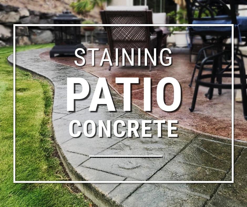 Staining Concrete Patio