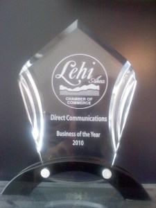 Direct Communications - Business of the Year 2010 -Lehi Area Chamber of Commerce