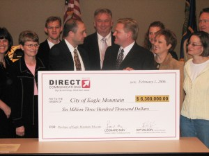 Direct Communications purchases the Eagle Mountain City Telecom network for $6.3 Million in 2006.