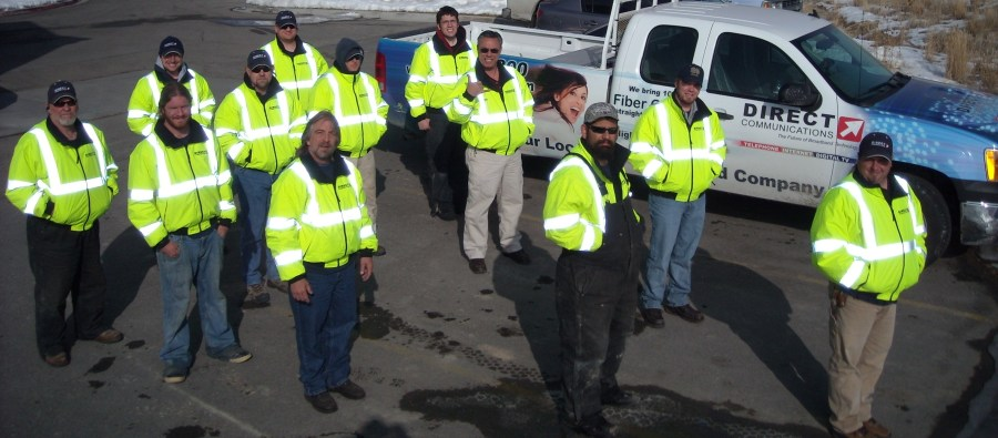 Fiber plant crew with new safety jackets-2010.